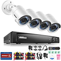 ANNKE 1080P HD-TVI Security Camera System 4CH DVR Recorder and (4) 2.0MP 1920TVL Outdoor Fixed CCTV Cameras-NO Hard Drive Included