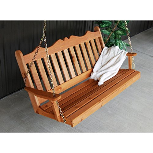 A & L Furniture Co. Western Red Cedar 4' Royal English Garden (Western Red Cedar Swing)