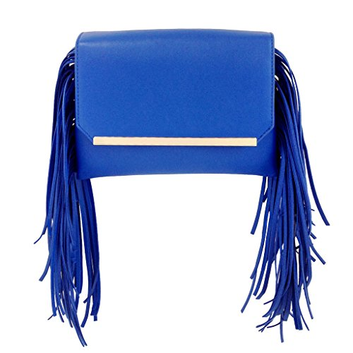 jnb-womens-double-pocket-fringe-clutch-royal-blue