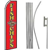 Fish & Chips Super Flag & Pole Kit For Sale