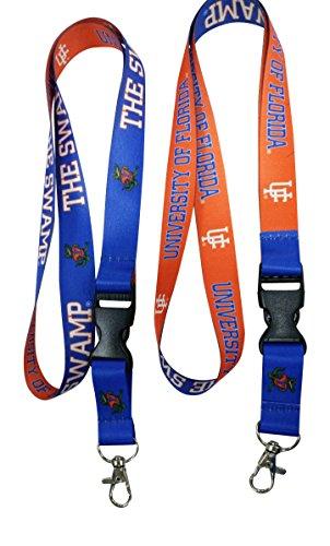 ida Gators Lanyard NCAA Reversible TWO-Tone Breakaway Team Lanyard Keychain ID Badge Holder Necklace (Florida Gators Badge Holder)