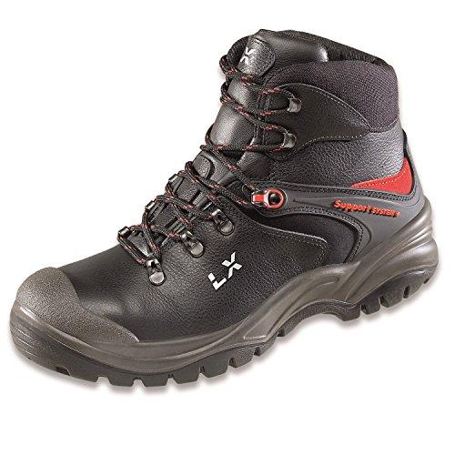 Lupriflex 1 Paar Trail Duo Boot Mittelhoher Sicherheitsschuh, S3, Schuhweite 11,5 Schwarz Größe 39-47