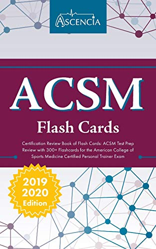 Pdf Test Preparation ACSM Certification Review Book of Flash Cards: ACSM Test Prep Review with 300+ Flashcards for the American College of Sports Medicine