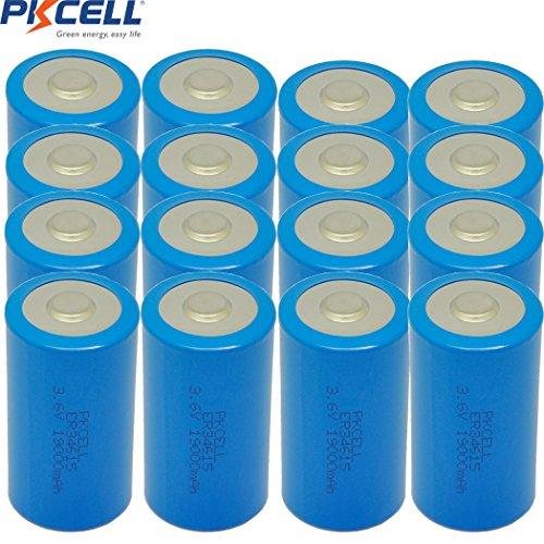D Cell Battery 3.6V ER34615 19000mAh Lithium Battery 20Pcs by PK Cell