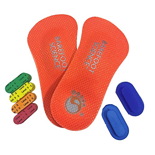Barefoot Science – 3/4 Length 6 Step Active Arch Activation Foot Support Insoles – Medium – (W10-11.5/M8-9.5)