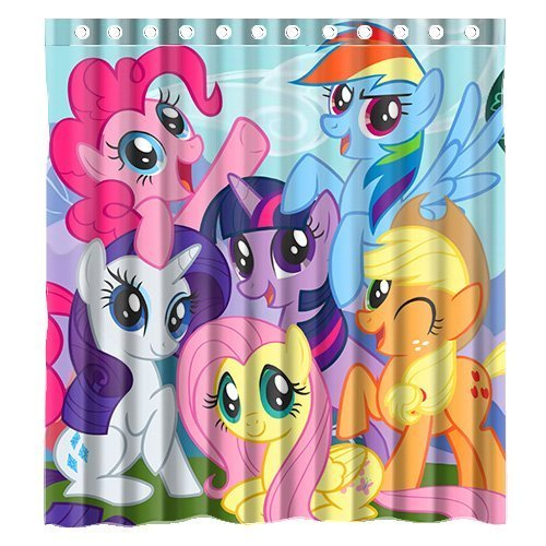 Custom Carton Anime My Little Pony Waterproof Bathroom Shower Curtain Polyester Fabric Size 66 X 72 By Amazonin Home