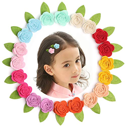 "Sufermee 20 Pcs 2"" Baby Girls Hair Clips Chiffon Flower Hair Barrettes Hair Accessories for Toddlers Girls Teens Kids from Sufermee"