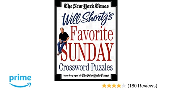 The New York Times Will Shortz S Favorite Sunday Crossword Puzzles