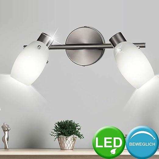 Decken Strahler beweglich Lampe Leuchte Glas Spots Wohn Ess Zimmer Beleuchtung