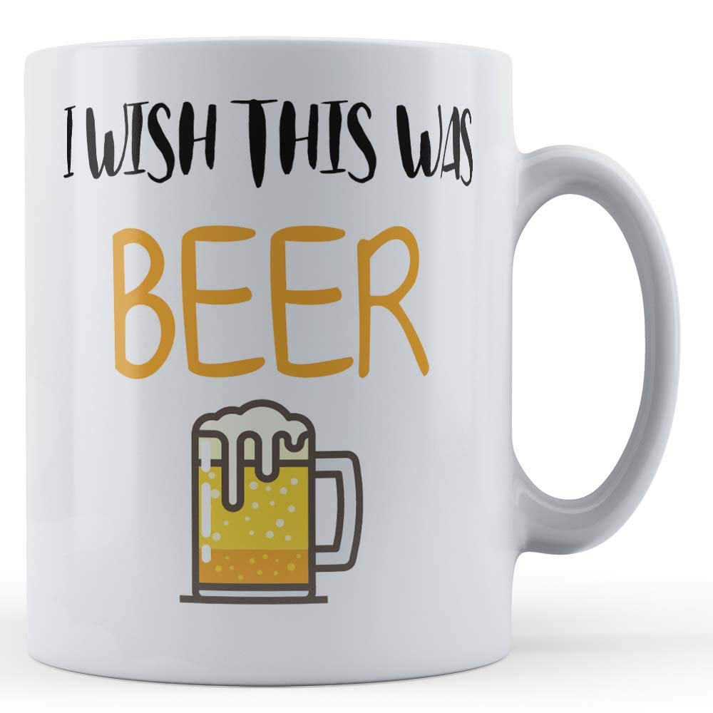 Gift Mug by Father Fox Funny Mug Beer Dad I Wish This Was Beer