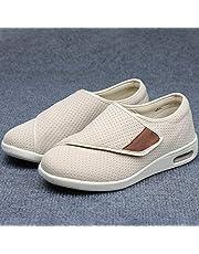 Traagschuim brede verstelbare schoenen met open teen,Verbredende casual schoenen met klittenband, verstelbare voetzwellende schoenen,Brede pasvorm comfortabele artritis oedeem gezwollen schoenen