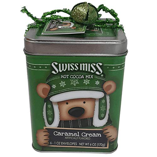 Swiss Miss Caramel Cream Hot Cocoa in Collectible Holiday Bear Tin (2018), 6 Packets per Tin ()