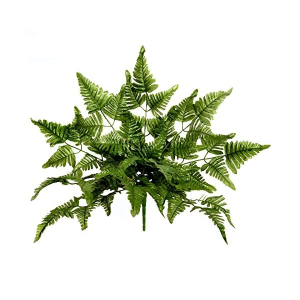 FloristryWarehouse-Artificial-Leather-Leaf-Fern-Plant-20-Inches-10-stems-of-7-Leaves
