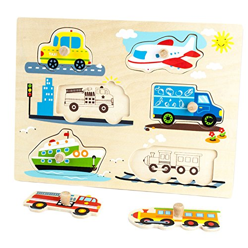 Outlet Professor Poplars Wooden People Movers Peg Puzzle 6pcs By