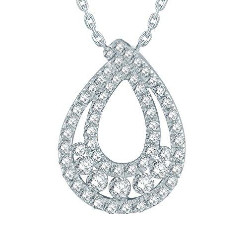 Giantti Diamant Pendentif Femme Collier (0,45CT, VS Clarté, Gh-colour)