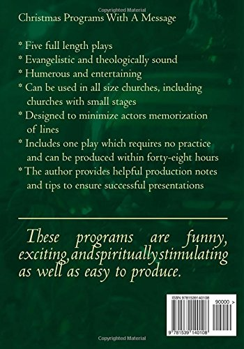 Christmas Plays for Small Churches: Easily Produced, Bible Based ...