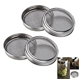 #6: SUMNACON Sprouting Jar Lids Kits - Stainless Steel Sprouting Lids For Wide Mouth Mason Jars, 4 Pack Sprouting Jar Lid Kit For Making Broccoli/Lentil/Bean Sprouts