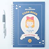 Hellogeeks Cash Book With Pencil, Account Book 5.91 x 8.27 Inch 176 Pages (navy)