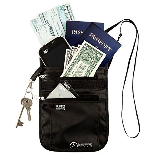 Inspiring Adventures Neck Wallet/Passport Holder