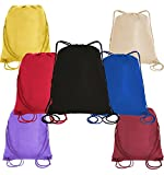 Pack of 12 Budget Friendly Well Made Non Woven Drawstring Bags 13.5''W x 15.5''H, Kids Drawstring Bags (MIX-ASSORTED)