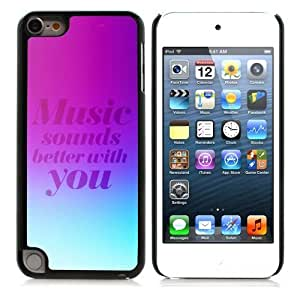 Beautifulcase GagaDesign cell phone Accessories: case cover for Apple iPod Touch 5 - CsQuE4xx5he Music Sounds