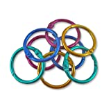 The Pencil Grip The Classics 1-Inch Diameter 50 Count Book Rings in Assorted Bright Colors (TPG-189)