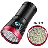 featured product Super Power LED Flashlight Ultra Bright 15000 Lumen Tactical Flashlight Torch with 16x Cree T6 LED & 3 Lighting Modes, BESTSUN Waterproof Handheld Light for Hiking Camping Fishing Indoor Outdoor
