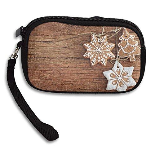 Purse Address Labels (Christmas Cookies Women's Zipper Small Wallet Purse Porte-monnaie Clutch Cards Holder Wallet Purse Business Card Wallet)