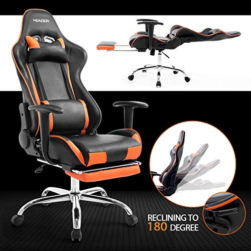 Neader Gaming Chair Ergonomic Office Chair Computer Racing Gaming Sport Race PU Leather Seat w/ & Neader Gaming Chair Ergonomic Office Chair Computer Racing Gaming ...