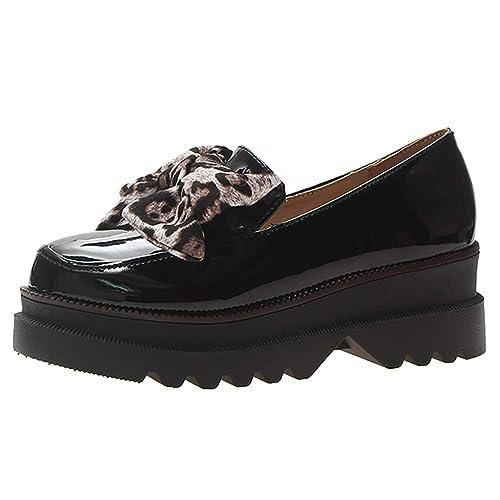 Mocasines Planos Plataformas Enredaderas Zapatos de Suela Gruesa Antideslizantes Mujeres Casual Mariposa Nudo Zapatos de Cuero: Amazon.es: Zapatos y ...