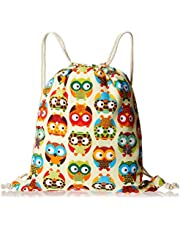 iSuperb Canvas Drawstring Backpack bag Sack bag Stylish Lightweight Cute for Excursion