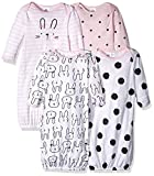 GERBER Baby 4-Pack Gown, Bunny, 0-6 Months: more info