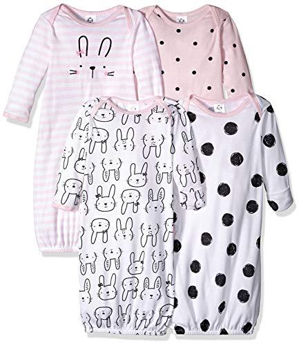 Preemie Girl - Gerber Baby Girls' 4-Pack Gown, Bunny, Preemie