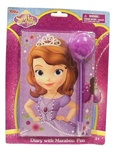 Disney Sofia the First Diary with Marabou Pen ~ Sofia Standing Tall (5