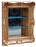 Hickory Manor House Ornate Curio Shelf, Gold Leaf