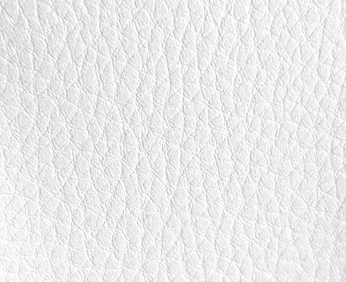 HAPPERS 1 Metro de Polipiel para tapizar, Manualidades, Cojines o forrar Objetos. Venta de Polipiel por Metros. Diseno Luna Color Blanco Ancho 140cm