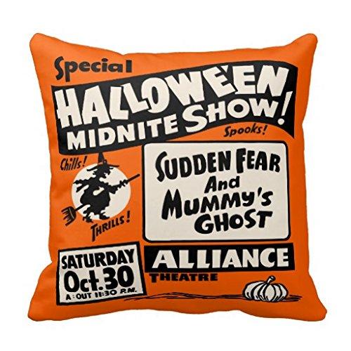 Vintage Spook Show Poster Halloween Midnite Show Pillow Case