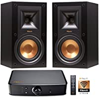 Klipsch R-15M Bookshelf Speaker Set & PowerGate Amplifier PlayFi Wireless Gateway Bundle