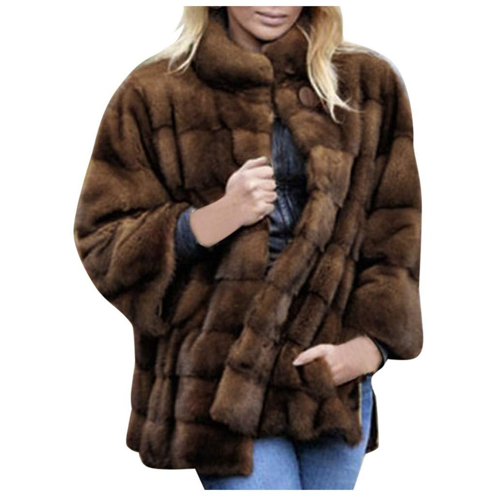 Wenini Women Coat Casual Lapel Open Front Fuzzy Fleece Side Split Oversized Cardigan Coat Faux Fur Warm Winter Outwear Jackets by Wenini Women Coat