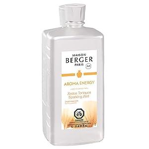 Sparkling Zest - Lampe Berger Fragrance Refill for Home Fragrance Oil Diffuser - 33.8 Fluid Ounces - 1 Liter