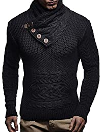 Mens Sweaters Turtleneck Cable Knit Button Down Cardigans Chunky Casual Fall Winner Coat