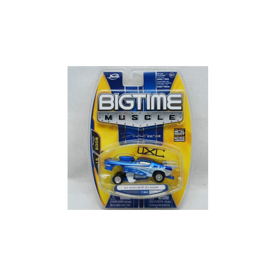 Jada Dub City Big Time Muscle Blue 1967 Shelby GT 500 164 scale die cast car DRAG SERIES