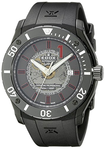 Edox-Mens-80088-37N-NRO2-Chronoffshore-Analog-Display-Swiss-Automatic-Black-Watch