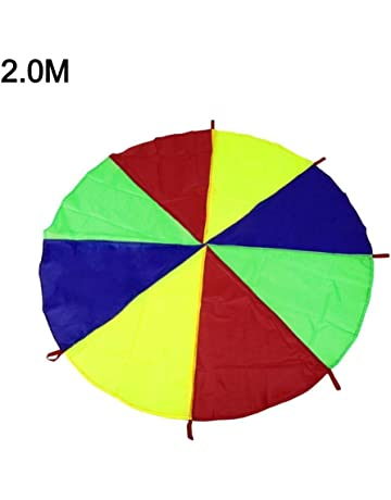 0337db5b63c9 Sunronal 1.1-2.0M Juego de niños Paracaídas Rainbow Umbrella Toy para  Padres Actividades para