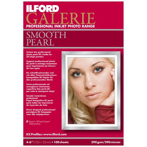 Paper Ilford Smooth Pearl - Ilford Galerie 4 x 6 Inch Smooth Pearl Paper 100 Sheets (1141216)