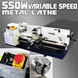 550W Mini Precision Mini Metal Lathe 2500RPM Variable 7 x 14 Speed 3/4HP