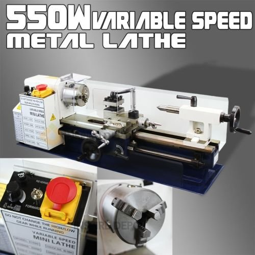 550W Mini Precision Mini Metal Lathe 2500RPM Variable 7 x 14 Speed 3/4HP by Nikkycozie