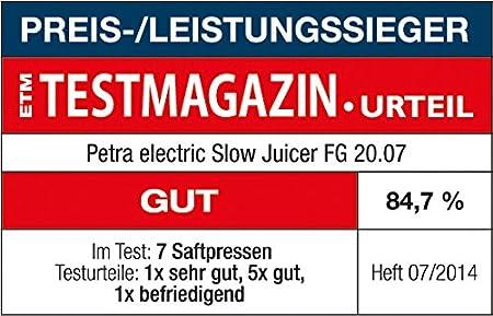 Petra FG 20.07 - Exprimidor (230 V, Negro, Verde, Transparente) [importado]
