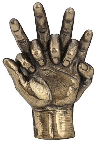 Soulmates Lovers Hands Entwined Sculpture - Perfect Valentine - Wedding Anniversary ()