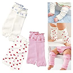 Toptim Baby Leg Warmers 3 Pack for Babies, Toddlers & Children Knee Pads